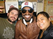 Andre 3000 visits Underdog for some tasty vegan dogs.
