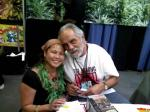 Rizza with Tommy Chong